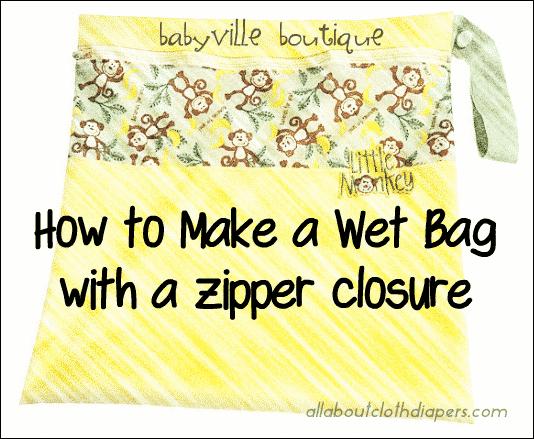 Babyville Wet bag DIY