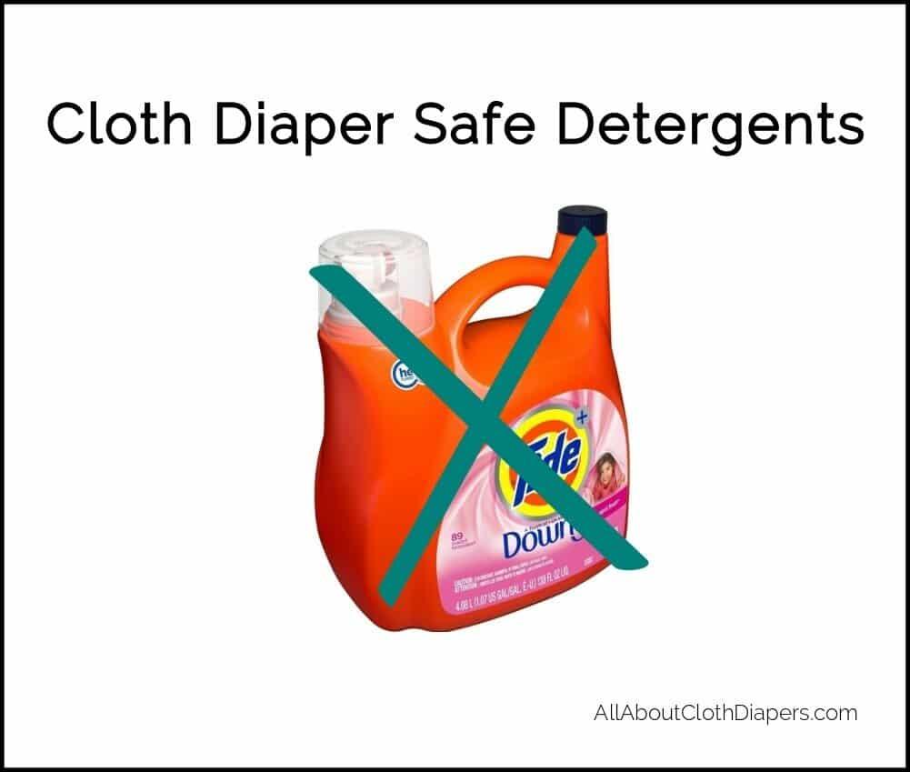 Information on cloth diaper safe detergents