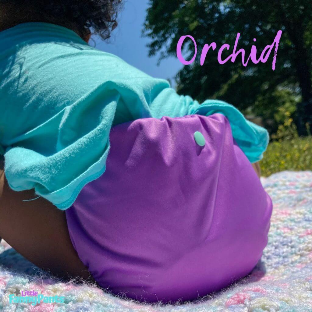 Orchid solid from Little Fanny Pants Diapers