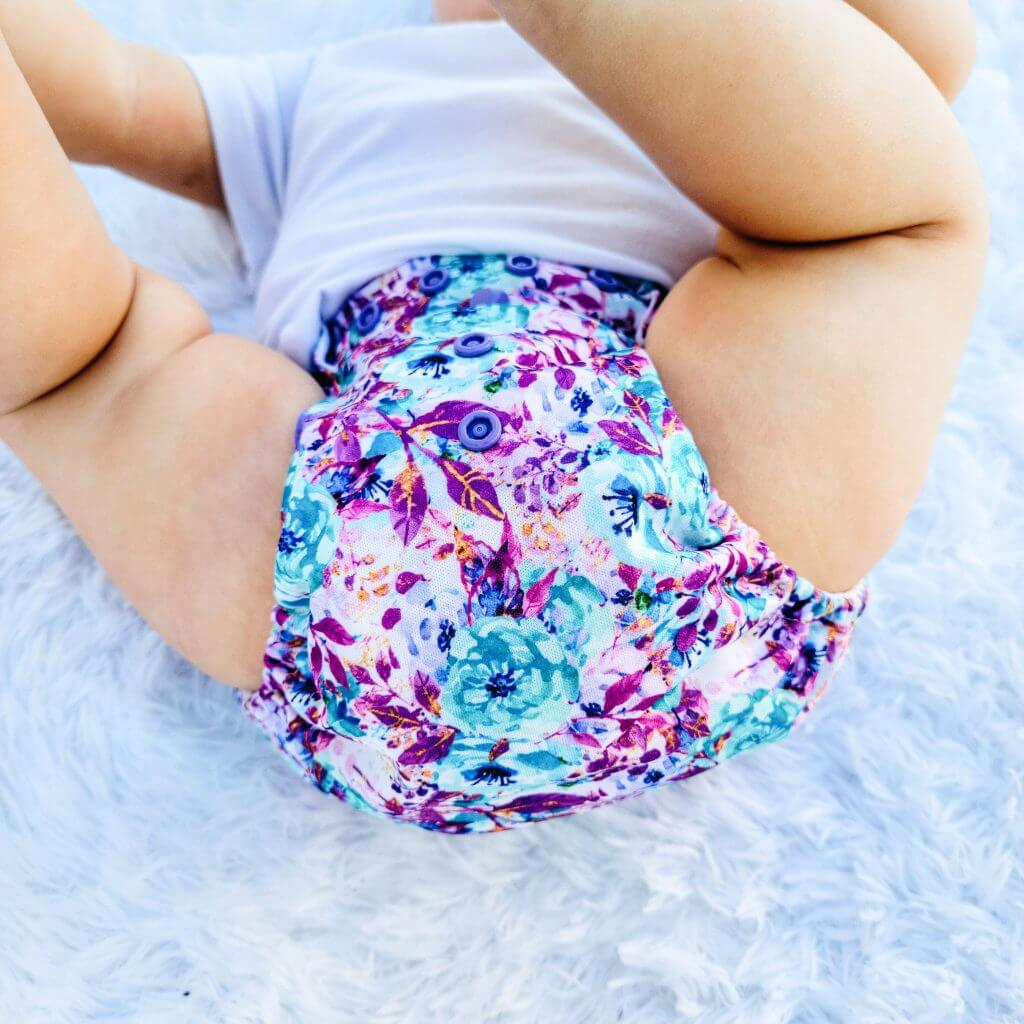 Morning Glory print from Little Fanny Pants Diapers